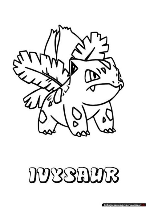 pokemon coloring pages ivysaur dibujos de pokemon para imprimir y colorear ivysaur