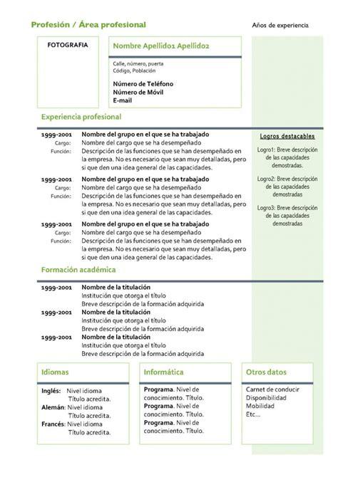 Modelo Curriculum Vitae Chile Descargar Curriculum Vitae Formato De Curriculum Vitae