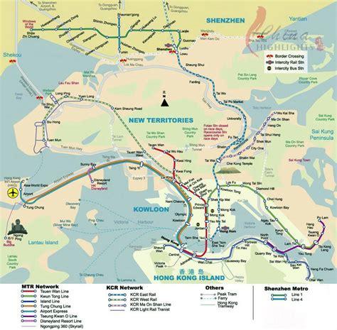 hong kong map 香港の地図