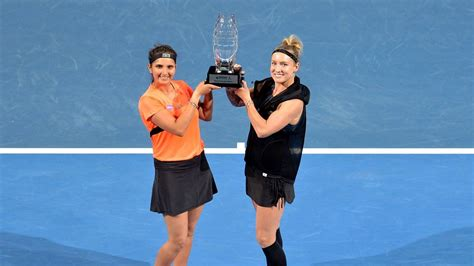 Former Tennis Non Profit Writer Mba by Sania Mirza Wins Brisbane International Loses Number One