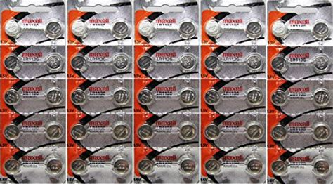 50 maxell battery button cell lr1130 ag10 batteries buy in uae health and
