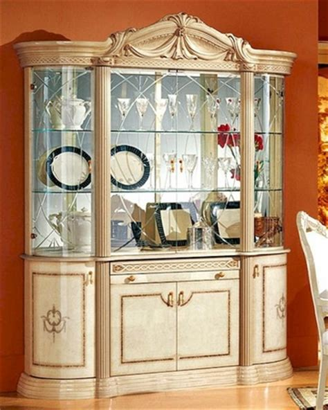 European China Cabinet by 4 Door China Cabinet Romana European Design Made In Italy