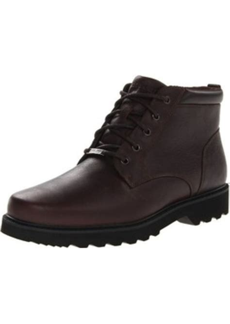 mens boots rockport rockport rockport s northfield wp plain toe chukka