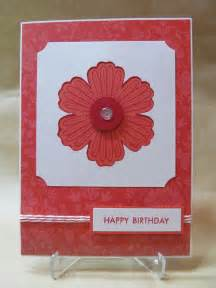 savvy handmade cards punched flower birthday card