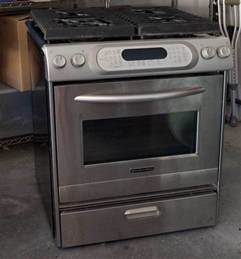 kitchenaid gas range stove convection oven architect
