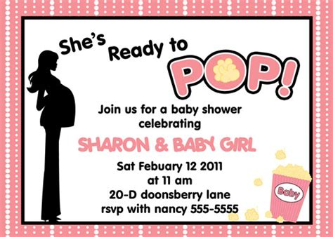 Ready To Pop Baby Shower Invitations Free by She S Ready To Pop She S About To Pop Baby Shower Invitation