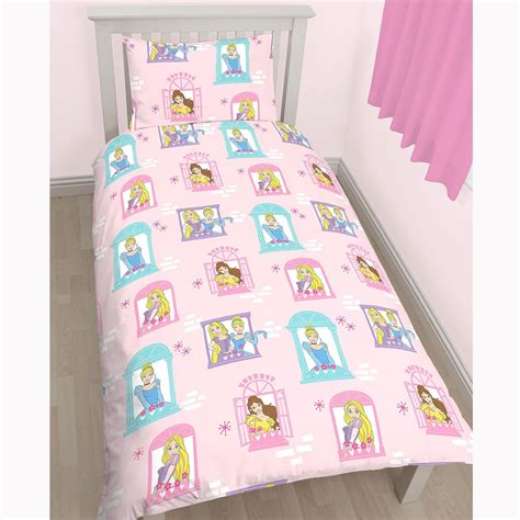 design studio sparkle princess 4 piece comforter set disney princess boulevard rotary single duvet curtains