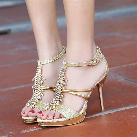 summer t shoes rhinestone
