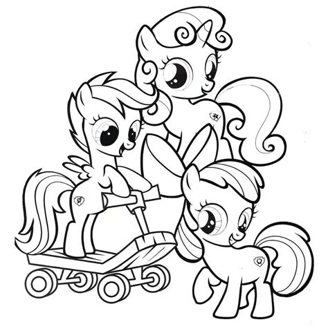 My Little Pony Coloring Pages Cutie Mark | my little pony cutie mark crusaders coloring pages www