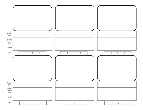 sotryboard template storyboarding el space the of l
