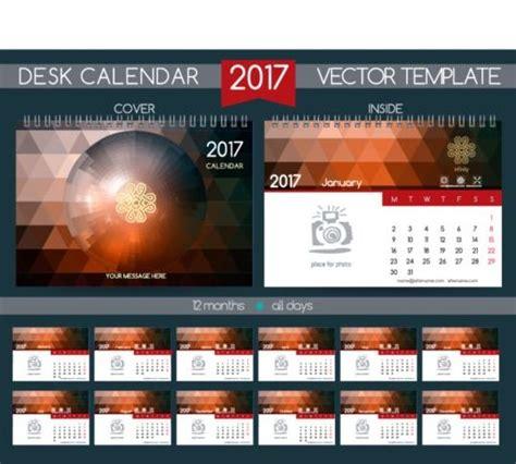 desk calendar 2017 18 retro desk calendar 2017 vector template 18 vector