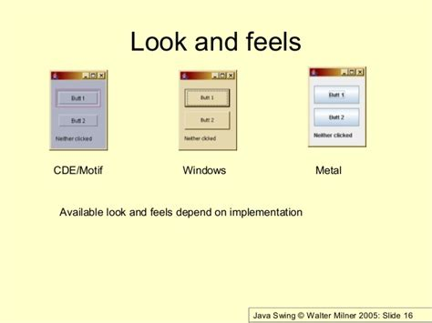java swing windows look and feel java swing set look and feel 28 images how to make