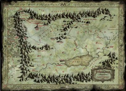 map of mordor lord of the rings fanatics forum