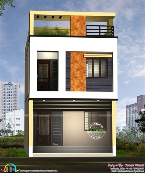 17 feet width house design   Kerala home design and floor