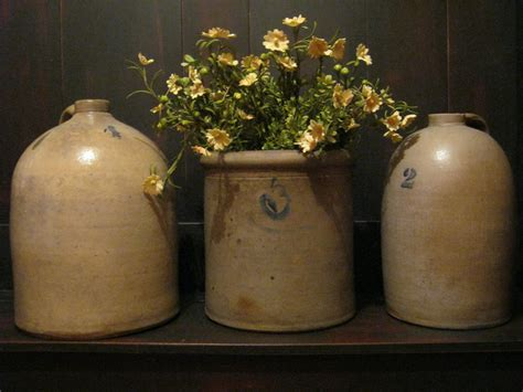 decorating with pottery old crocks and jugs redwing crocks stoneware pinterest