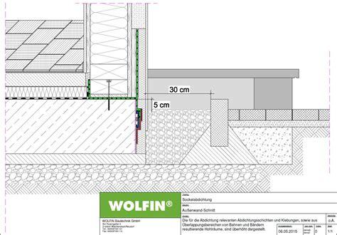 Sockel Spritzwasserschutz by Risse 252 Berbr 252 Ckende Abdichtung 224 La Wolfin F 252 R Holzbauteile Im Gr 252 Ndungsbereich