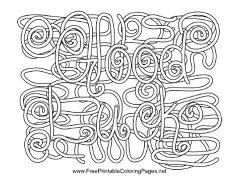 coloring pages with hidden words lucky hidden word coloring page