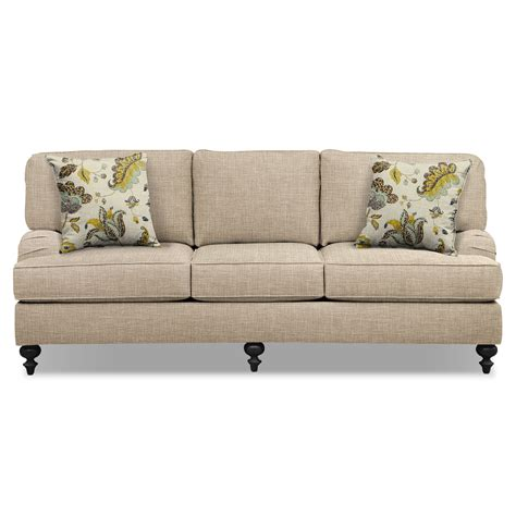 Sofa And Accent Chair Set by Avery Taupe 86 Quot Sofa 62 Quot Sofa And Accent Chair Set
