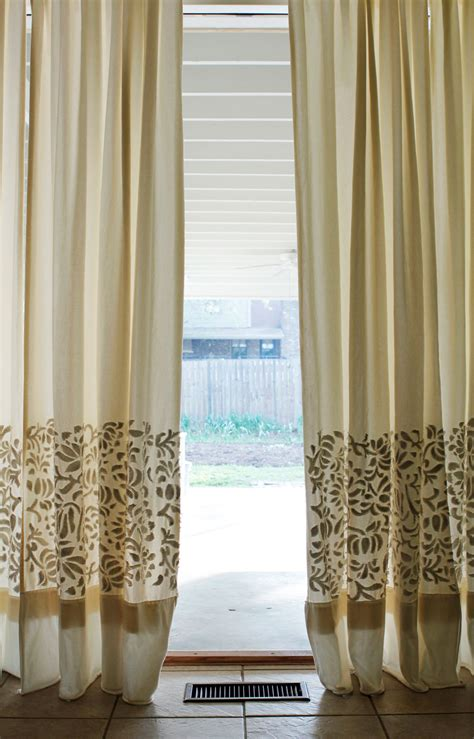 diy drapes and curtains diy thursday appliqu 201 curtains alabama chanin journal