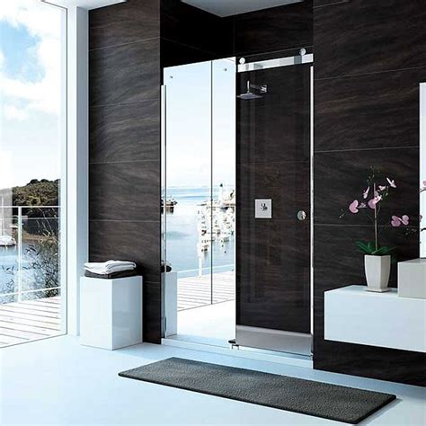 mirror bathroom door merlyn 10 series 1400mm mirror sliding shower door