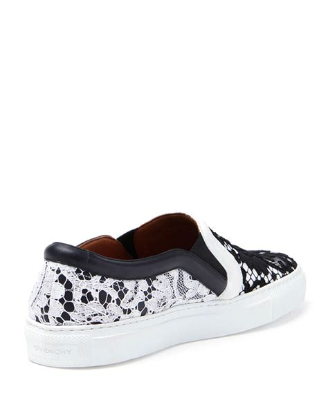white lace sneakers givenchy lace slip on sneaker in white lyst