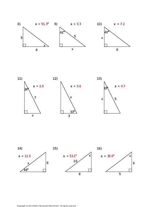 Free Trigonometry Worksheets by Trigonometry Worksheets Clipground