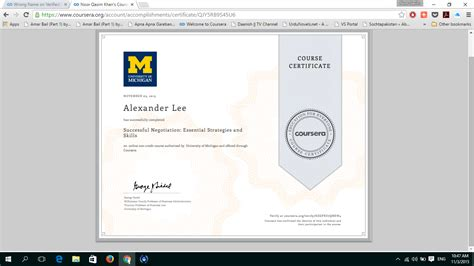 javascript tutorial coursera wrong name on verified certificate coursera help center