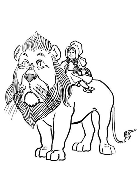 cowardly lion coloring pages badge of courage coloring sheet bing images