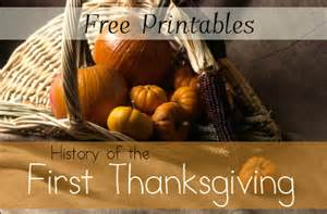 history of thanksgiving free printables and unit study resources mamas learning corner