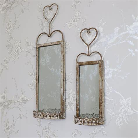 wand kerze 2er set d 252 nn rustikale stil wand spiegel kerze