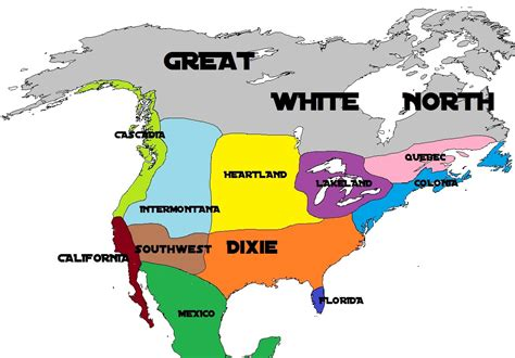 america nations map mimzy s geography my 11 nations of america