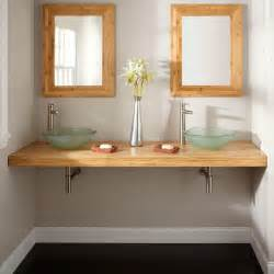 Wall Mount Bathroom Vanity Cabinets Moderne Badezimmerm 246 Bel Aus Bambus 50 Attraktive Ideen