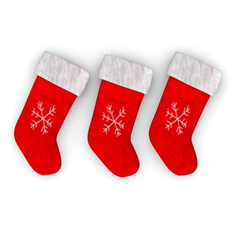 christmas sock 3d model christmas socks