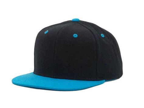 black teal blank snapback lids