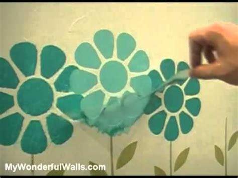 Bedroom Paints Designs Girls Room Flower Garden Makeover Wall Stencils Flv Youtube