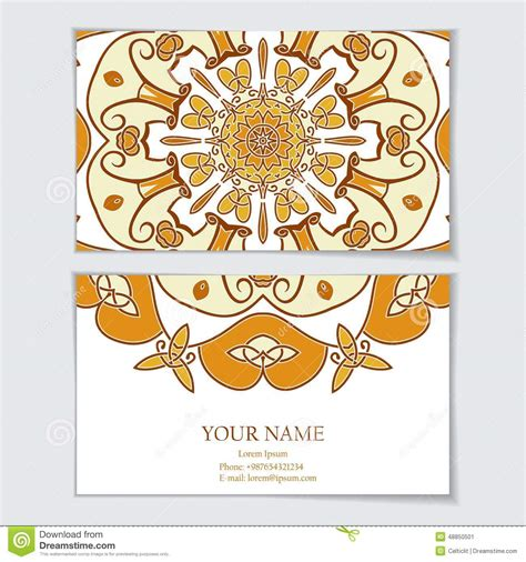 custom greeting card template business card template stock vector image 48850501