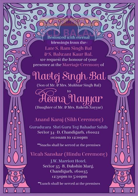 Wedding Invitations Indian by Creative Indian Wedding Invitations Sikh Indian