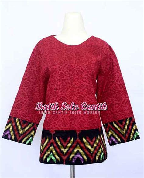 Bolero Modern Katun Bordir Mix Batik Bolero Nalika blouse tenun kombinasi embos daniyanti