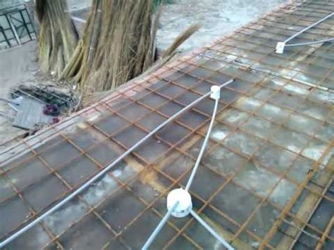 ground electrical installation in the roof