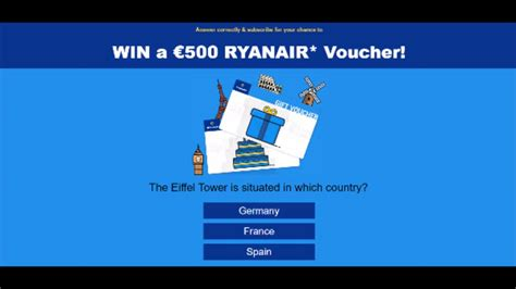 Ryanair Gift Card - take a chance to win a 500 ryanair voucher link ireland youtube