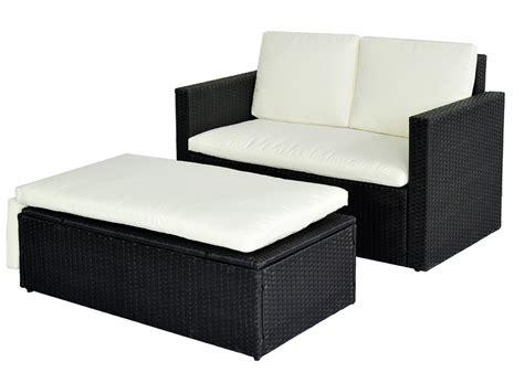 polyrattan sofa mit stauraum 960 poly rattan lounge schwarz sofa garnitur polyrattan