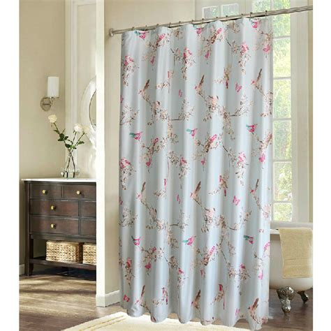 shabby shower curtain shabby chic blue floral bird luxury shower curtains