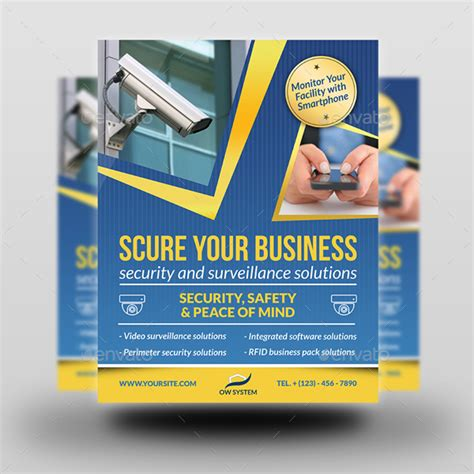 Security System Template Security System Flyer Template Vol 2 By Owpictures