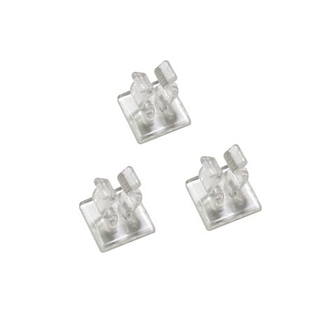 25 ct mini light adhesive clip clear