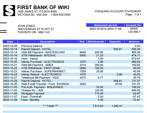 7 Bank Statement Template Procedure Template Sle Bank Statement Template Calculator