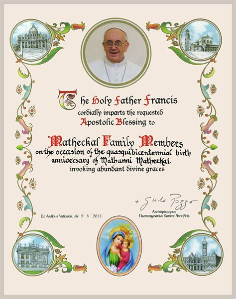 Wedding Blessing From The Pope by Obtaining Papal Blessing Pope Francis Pictures To Pin On