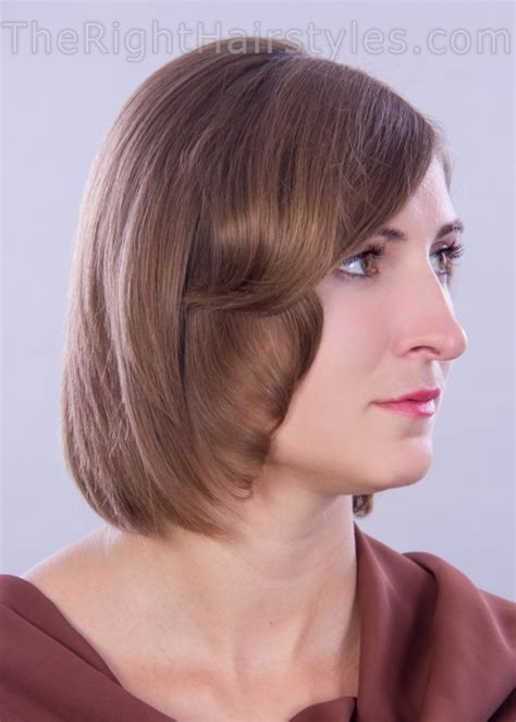 a line haircuts for thin hair how to a line hairstyle with face framing locks for short