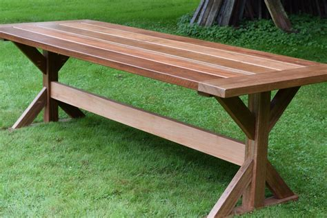 how to an outdoor table the mahogany outdoor dining table trestle table