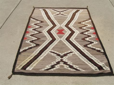 antique american indian navajo rug lightning