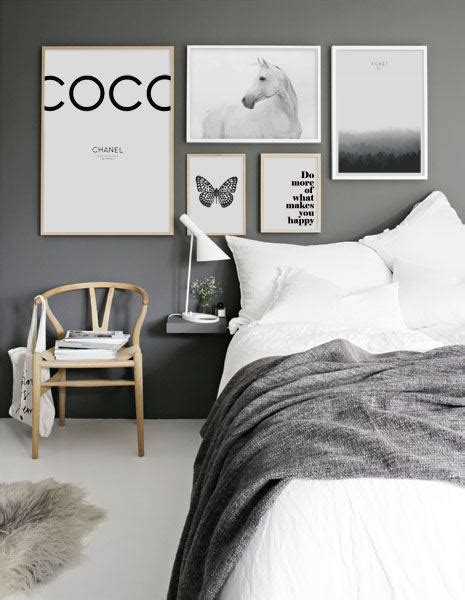 schlafzimmer poster scandinavian and nordic black and white poster with